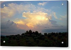 Storm Clouds Reflecting Sunset Acrylic Print by Dorothy Berry-Lound