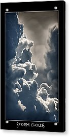 Storm Clouds  Acrylic Print by Vincent Dwyer