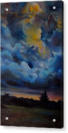 Storm Coming At The Sunset Acrylic Print by Alessandra Andrisani