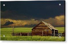 Storm Crossing Prairie 2 Acrylic Print by Robert Frederick