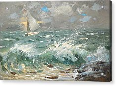 Acrylic Print featuring the painting Storm by Dmitry Spiros