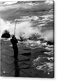 Acrylic Print featuring the photograph Storm Fishing by Travis Burgess