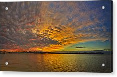 Storm Front Sunset II Acrylic Print by Dan Holland