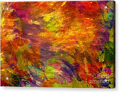 Storm In A Paint Pot Acrylic Print by Kaye Menner