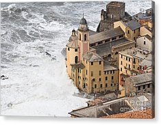 Acrylic Print featuring the photograph Storm In Camogli by Antonio Scarpi