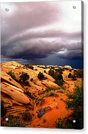 Storm In The Desert Acrylic Print