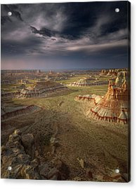 Storm In The Distance Acrylic Print by Greg Barsh