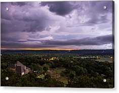 Acrylic Print featuring the photograph Storm In The Valley by Darryl Dalton