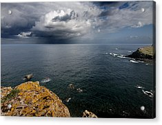 A Mediterranean Sea View From Sa Mesquida In Minorca Island - Storm Is Coming To Island Shore Acrylic Print