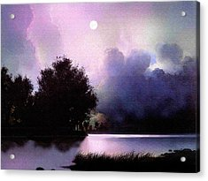 Storm Lake Acrylic Print by Robert Foster