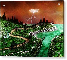 Acrylic Print featuring the painting Storm by Michael Rucker