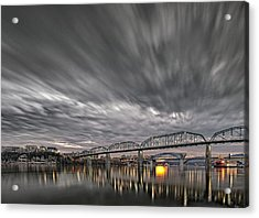 Storm Moving In Over Chattanooga Acrylic Print