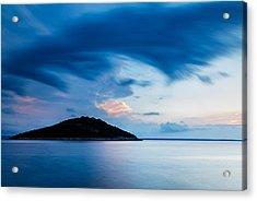 Storm Moving In Over Veli Osir Island At Sunrise Acrylic Print