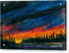 Storm Moving Out Acrylic Print by R Kyllo