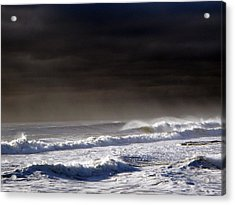 Storm Moving Out To Sea Acrylic Print by Anastasia Pleasant
