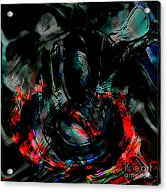 Soul On Fire Acrylic Print by Ashantaey Sunny-Fay