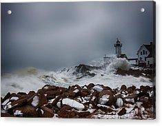 Storm Off Eastern Point Lighthouse Acrylic Print