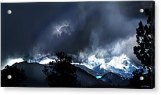 Storm On Long's Peak Acrylic Print by Ric Soulen