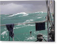 Storm On Tasman Sea Acrylic Print by Jola Martysz