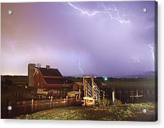 Storm On The Farm Acrylic Print by James BO  Insogna