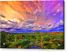 Storm On The Telegraph Acrylic Print