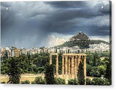 Acrylic Print featuring the photograph Storm Over Athens by Micah Goff