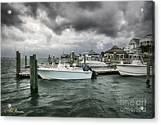 Acrylic Print featuring the photograph Storm Over Banks Channel by Phil Mancuso