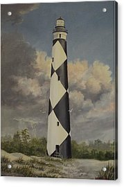 Storm Over Cape Fear Acrylic Print by Wanda Dansereau