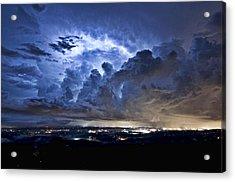 Storm Over Chattanooga Acrylic Print