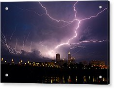 Storm Over City Acrylic Print