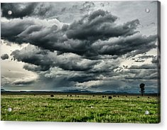Storm Over Jackson Hole Valley Acrylic Print by Jeff R Clow