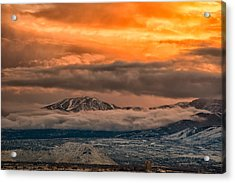 Storm Over Mt Rose Acrylic Print
