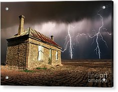 Storm Over Ruin Acrylic Print by Shannon Rogers