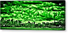 Storm Over The Emerald City Acrylic Print by David Patterson