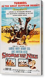 Storm Over The Nile, Us Poster Art, 1955 Acrylic Print
