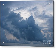 Storm Over The Ocean Acrylic Print by Gayle Melges