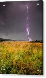 Storm Over The Wheat Fields Acrylic Print by Eti Reid