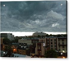Acrylic Print featuring the photograph Storm Over West Chester by Ed Sweeney