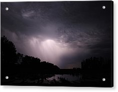 Storm Over Wroxton Acrylic Print