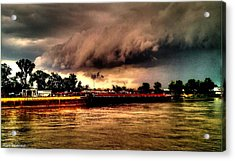 Storm Rolling In Acrylic Print by Cory Shoemaker