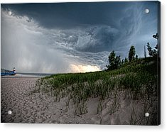 Storm Rolling In Acrylic Print by John Crothers