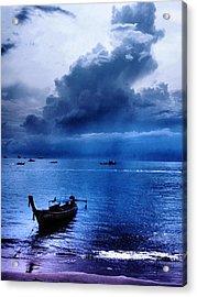 Storm Rolls Over The Sea Acrylic Print by Kaleidoscopik Photography