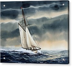Storm Sailing Acrylic Print by James Williamson