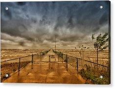 Storm Sandy At Bradstreet Landing Acrylic Print
