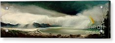 Acrylic Print featuring the painting Storm by Sorin Apostolescu