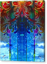 Storm Through The Window - Abstract  Acrylic Print