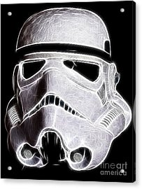 Storm Trooper Helmet Acrylic Print by Paul Ward