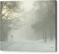 Acrylic Print featuring the photograph Storm Warning  by Deborah DeLaBarre