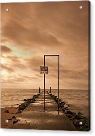Storm Warning Acrylic Print by Evelina Kremsdorf