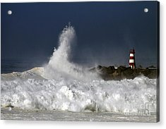 Storm Waves Acrylic Print by Boon Mee